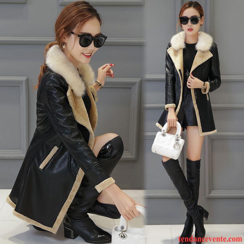 blouson cuir moto grande taille femme slim une veste renforc longues pardessus femme cuir plus. Black Bedroom Furniture Sets. Home Design Ideas