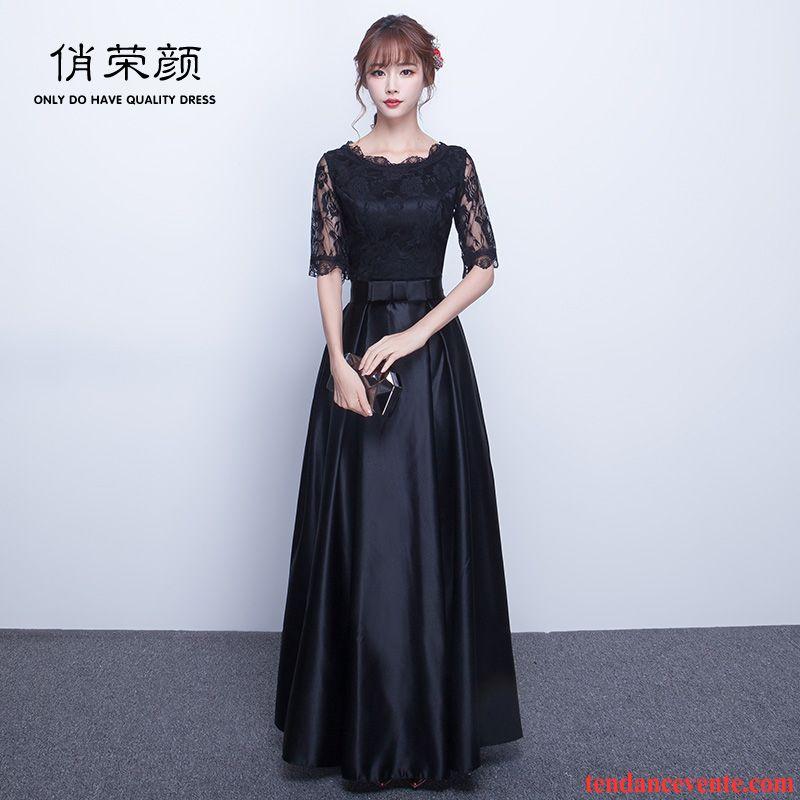 Robe De Élégant Racé Mince Femme Longue Noir Boutique sBthxrQdC