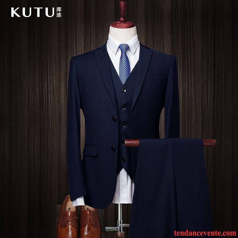 costume de marque homme homme blazer de travail mariage ensemble professionnel slim pas cher. Black Bedroom Furniture Sets. Home Design Ideas