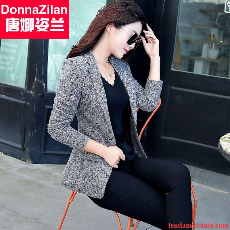 costume femme d hiver mince une veste blazer femme l 39 automne d contract e tous les assortis. Black Bedroom Furniture Sets. Home Design Ideas