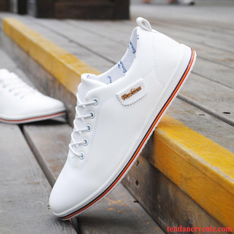 Skate De Chaussures Décontractée Hiver Derbies Cuir Noires Plates y8nOv0wmN