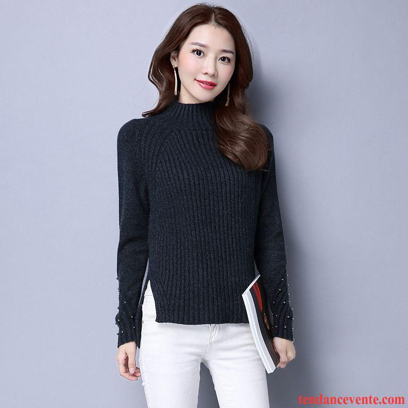 gilet long femme grosse maille l 39 automne femme pull tendance renforc pullovers chemise en bas. Black Bedroom Furniture Sets. Home Design Ideas