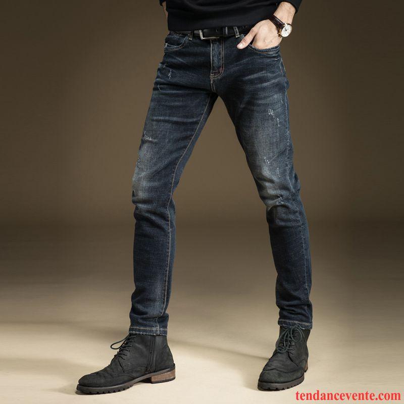 jean coupe skinny homme slim jambe droite noir pantalon l. Black Bedroom Furniture Sets. Home Design Ideas