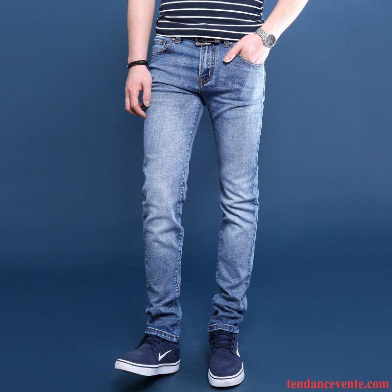jean vert homme homme maigre jeunesse extensible slim l 39 automne renforc hiver pantalon jambe. Black Bedroom Furniture Sets. Home Design Ideas