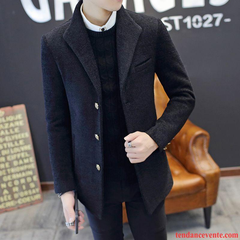 long manteau homme pardessus homme manteau de laine plus. Black Bedroom Furniture Sets. Home Design Ideas