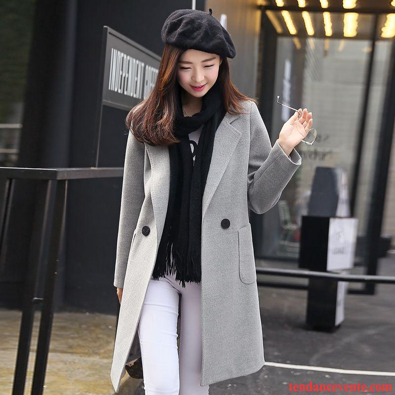 manteau en laine noir femme tendance femme longue l. Black Bedroom Furniture Sets. Home Design Ideas