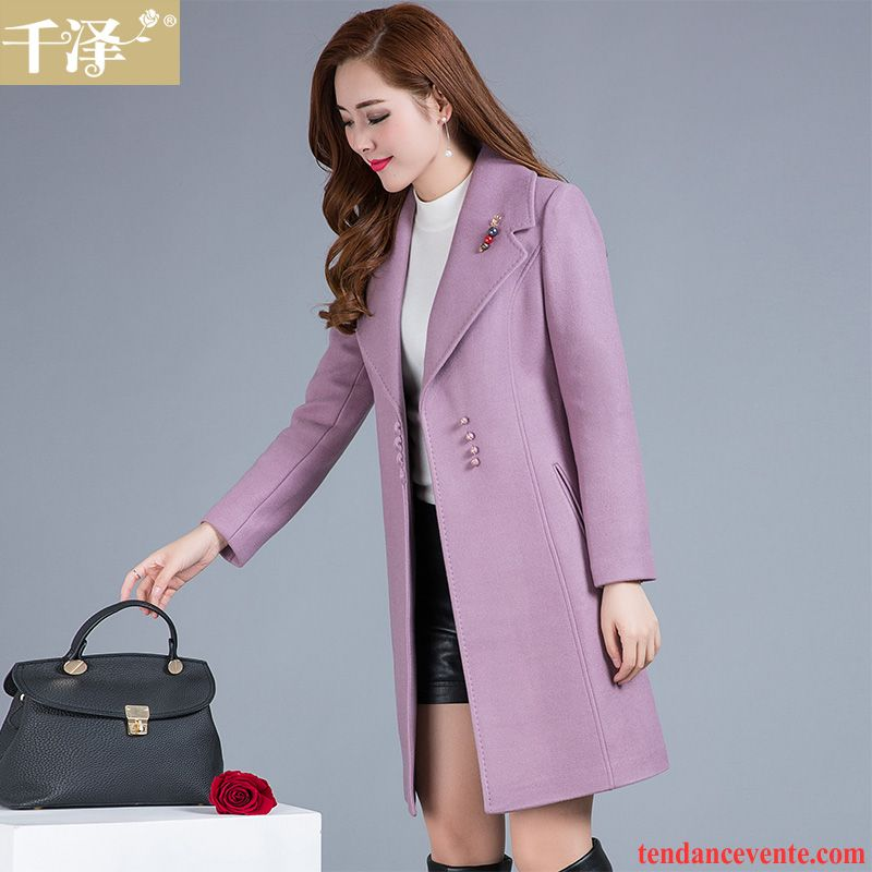 Manteau marron femme hiver
