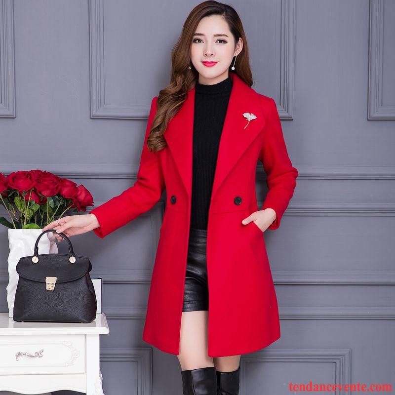 Manteau Bu05xtqwx Femme Hiver D'hiver L'automne Longue Rouge Vêtements rCsQhdt