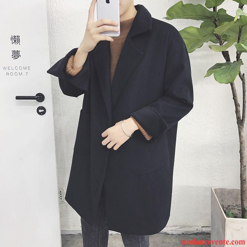 manteau homme classe manteau pardessus jeunesse homme baggy coupe vent longue l 39 automne tendance. Black Bedroom Furniture Sets. Home Design Ideas
