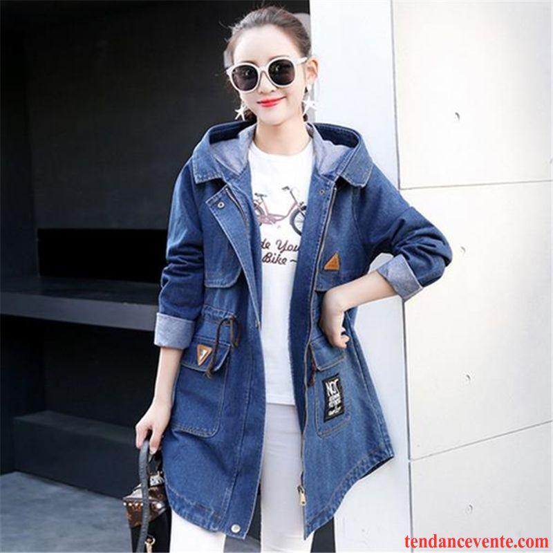 manteau mi long femme hiver fille manteau bleu v tements d. Black Bedroom Furniture Sets. Home Design Ideas