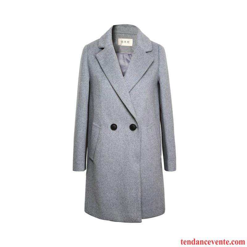 manteau noir cintr l 39 automne femme slim hiver manteau. Black Bedroom Furniture Sets. Home Design Ideas