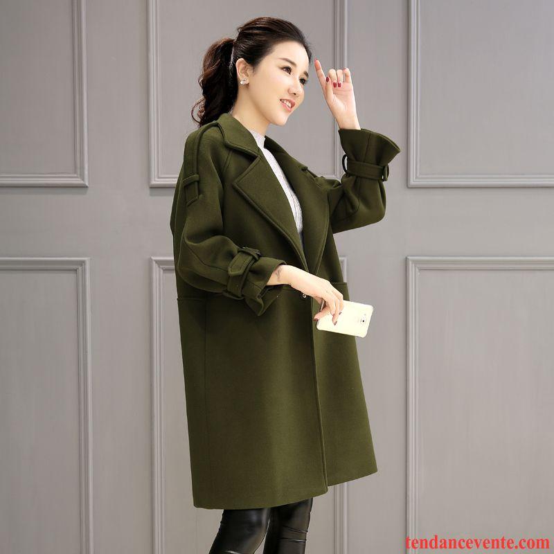 Barato Abrigo Mujer Verde Reforzado Militar Abrigo Largo XkPZiu