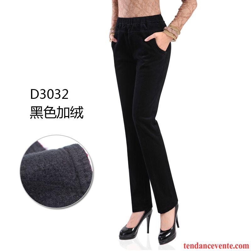 Pantalon noir femme pas cher lastique pantalon hiver jambe droite plus de velours taillissime l - Cafe velours noir pas cher ...
