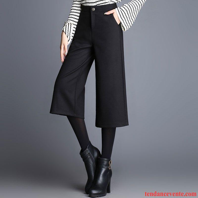 Mince Femme Jambe L'automne Droite Yn8npm0vwo Large Noir Pantalon l1FJ3cKT