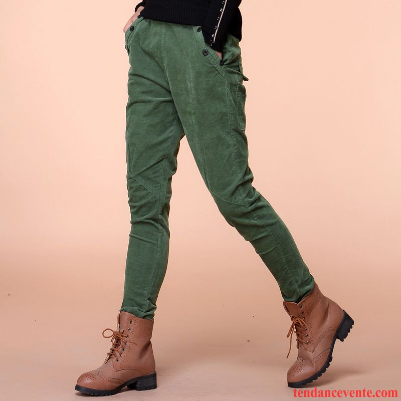 61f415da228 Pantalon Noir Taille Haute Baggy Femme L automne Pantalon Tendance Middle  Waisted Vêtements D hiver Harlan Kaki Pas Cher