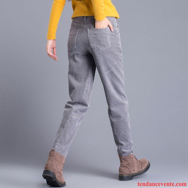 e9e6bbbdfaf Pantalon Slim Beige Femme L automne Coton Bio Hiver Harlan Décontractée Pantalon  Baggy Velours Côtelé Femme Mince Pas Cher