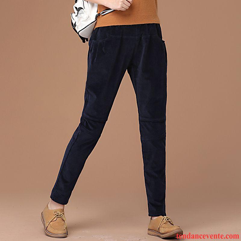 pantalon velours noir tendance femme pantalon renforc d contract e l 39 automne baggy hiver. Black Bedroom Furniture Sets. Home Design Ideas