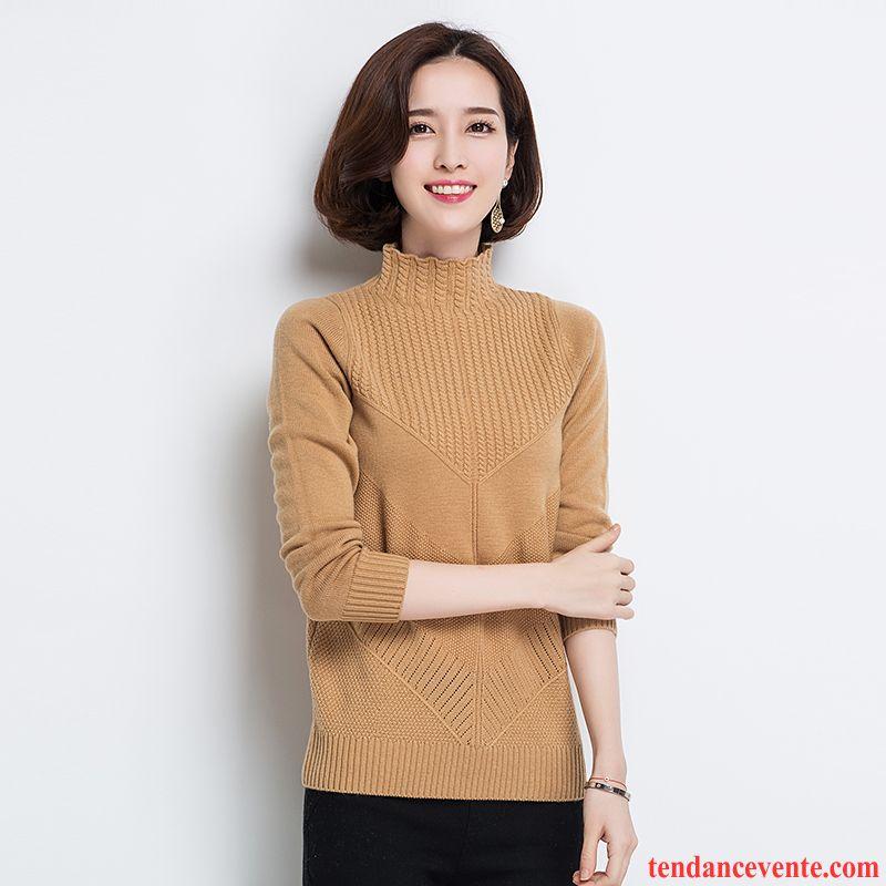 pull chaud femme l 39 automne femme chemise en bas haut court pur hiver pullovers baggy en maille. Black Bedroom Furniture Sets. Home Design Ideas
