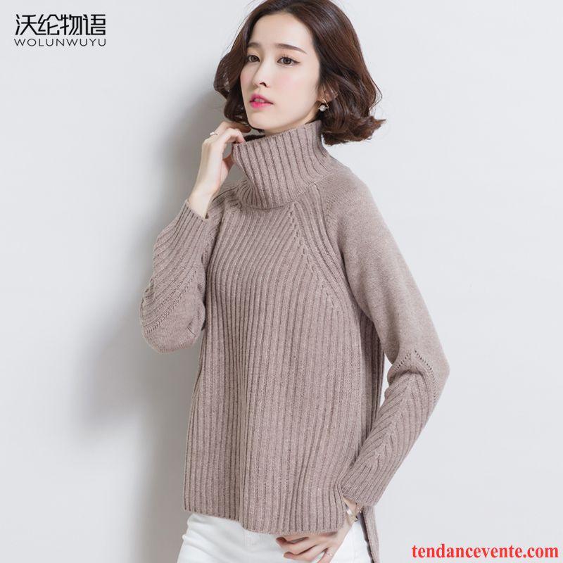 pull col roul blanc femme chemise en bas femme pullovers tricots en maille haut court hiver l. Black Bedroom Furniture Sets. Home Design Ideas