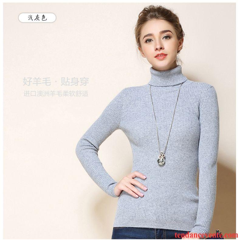 pull de laine femme l 39 automne pull pullovers moulant chemise en bas court haut court hiver en. Black Bedroom Furniture Sets. Home Design Ideas