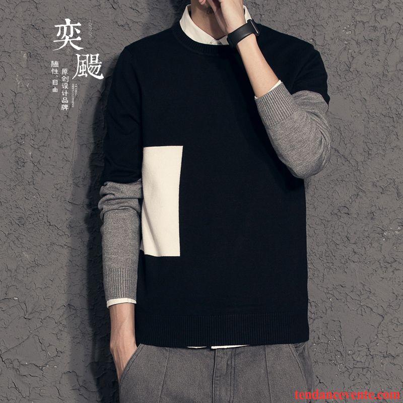 pull homme col montant homme haute qualit tricots en. Black Bedroom Furniture Sets. Home Design Ideas
