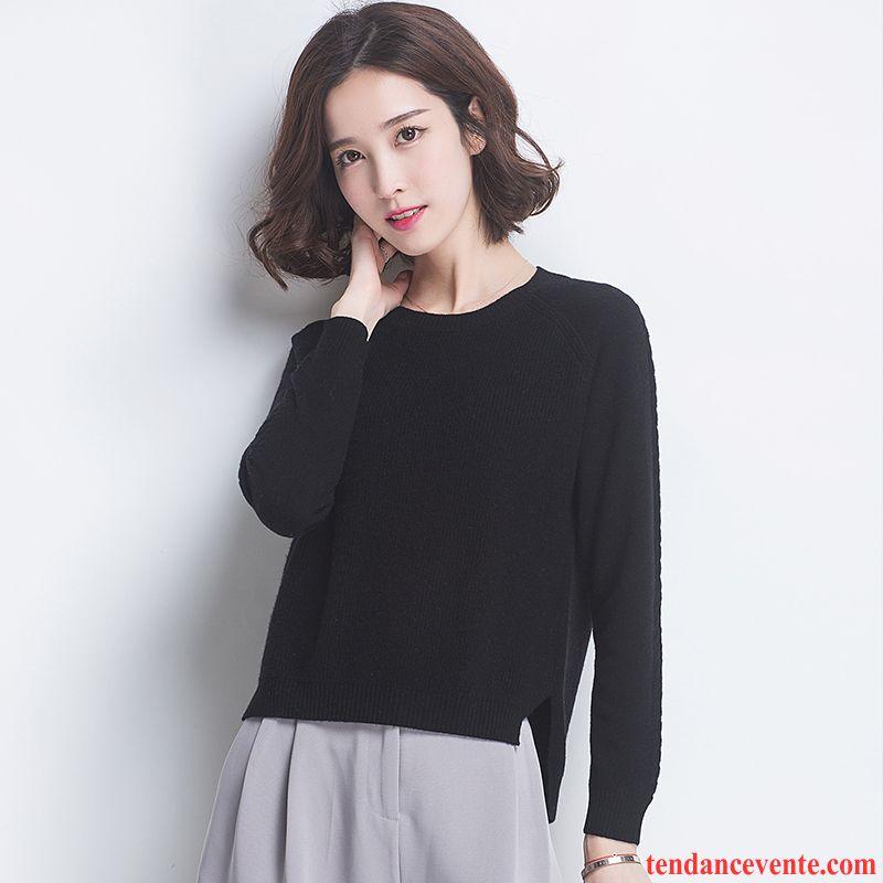 39140141179d Pull Rayé Noir Et Blanc Femme Hiver Court Petit Style Dame Pull Pullovers  L automne Femme ...