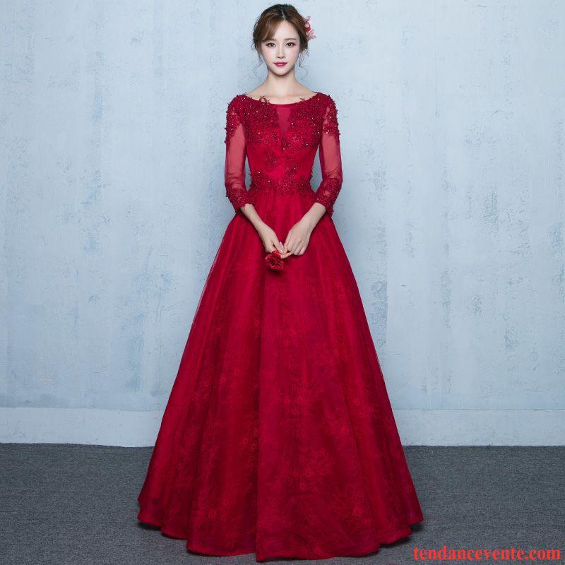 569096bd6185 Robe Longue Pour Tous Les Jours Longue Rouge L automne Mince Femme Renforcé  Mariage Hiver Longues Brun Pas Cher
