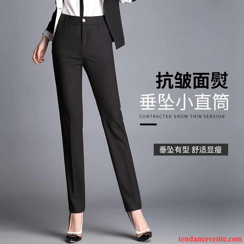 Décontractée Professionnel Droite Pour Femme Jambe Tissu Pantalon Yy7b6gf