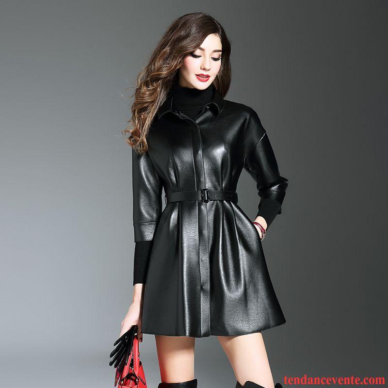 La veste en cuir femme