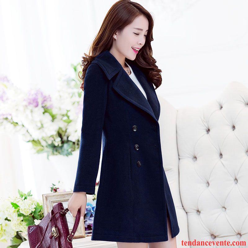 veste d hiver femme de laine mince tendance mode renforc pardessus manteau femme longue l. Black Bedroom Furniture Sets. Home Design Ideas