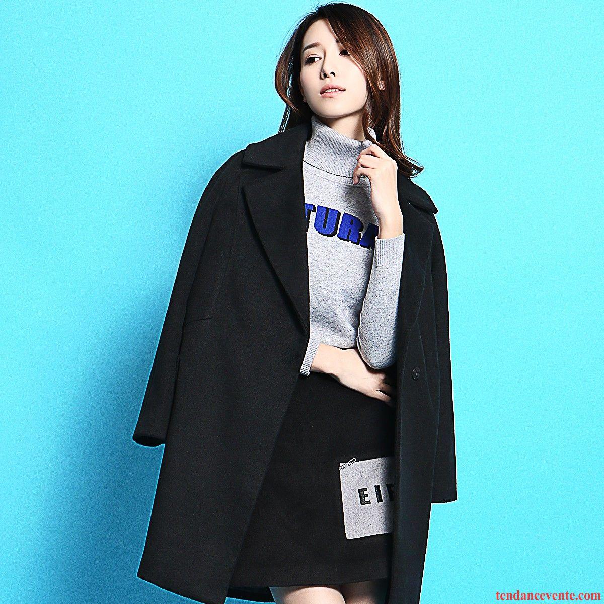 veste et manteau femme pas cher femme de laine matelass slim l 39 automne hiver pardessus blanc. Black Bedroom Furniture Sets. Home Design Ideas