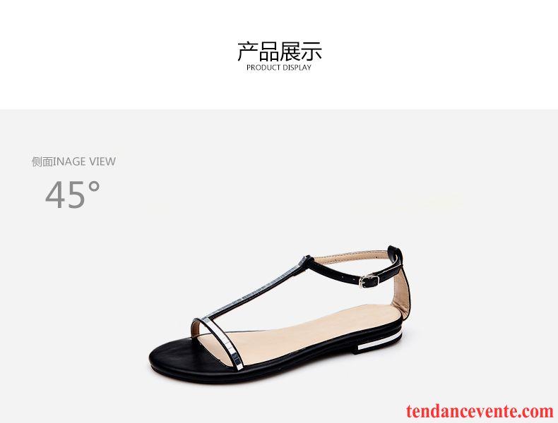 a522fc832ae Chaussure Femme Sandales Cuir Plates Été Rome Antidérapant Femme ...