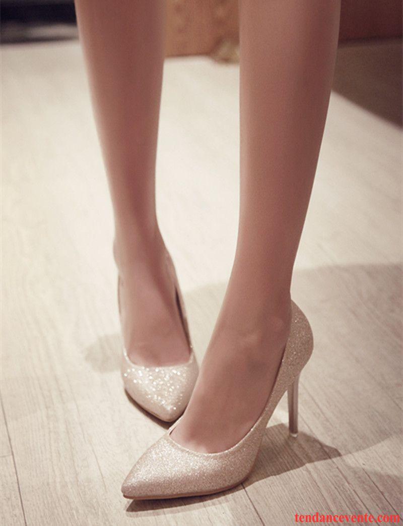 escarpin noir gros talon femme chaussures de mariage tous les assortis poudre argent printemps l. Black Bedroom Furniture Sets. Home Design Ideas