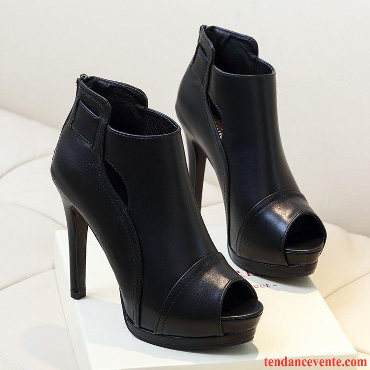 escarpins femme escarpins talon compens sexy plateforme tanche femme t peep orteil noir. Black Bedroom Furniture Sets. Home Design Ideas