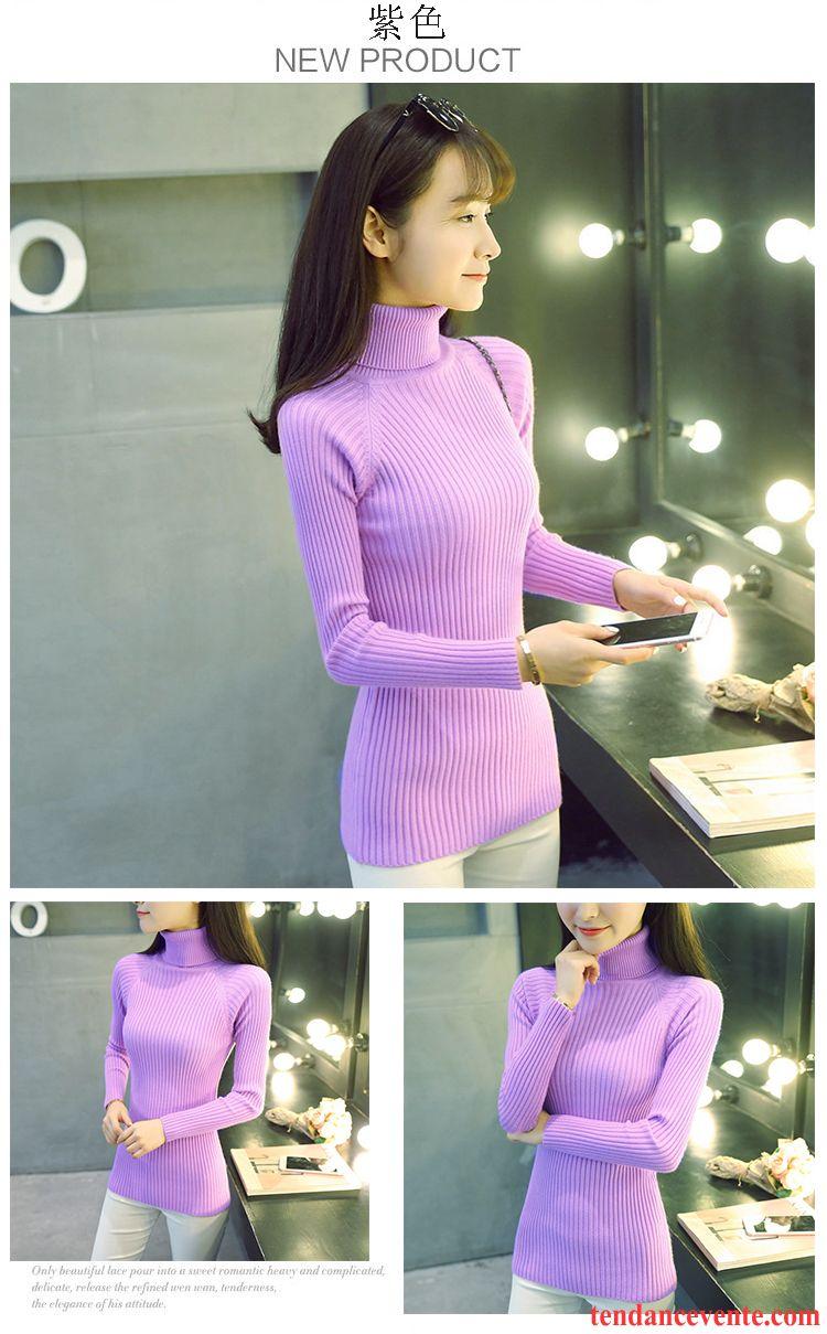 gros pull en laine femme pull l 39 automne pullovers tricots en maille chemise en bas haut court. Black Bedroom Furniture Sets. Home Design Ideas