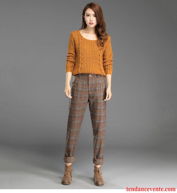 Pantalon lin femme taille lastiqu e d contract e maigre l 39 automne baggy femme mode harlan de - Taille des rosiers automne ...