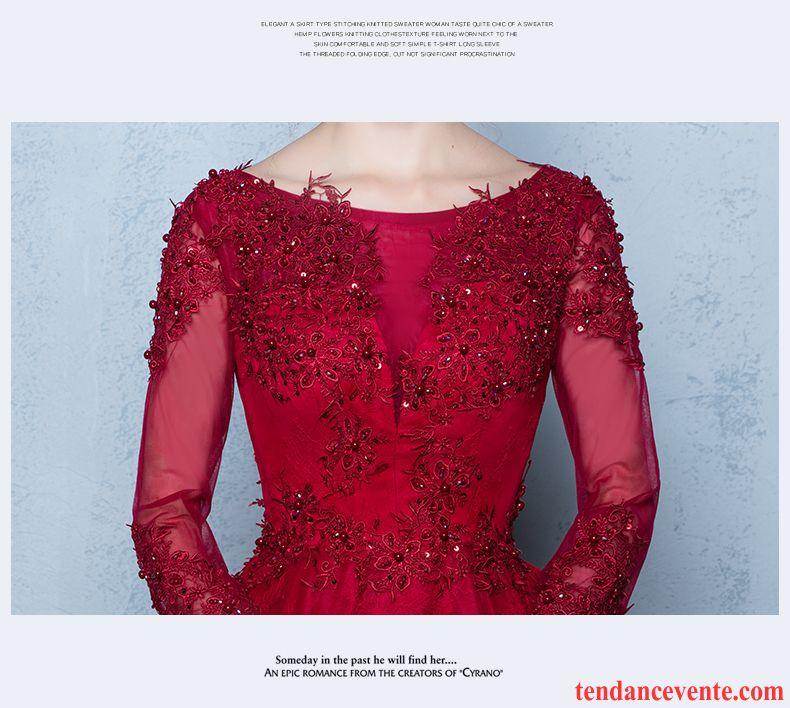 robe longue pour tous les jours longue rouge l 39 automne mince femme renforc mariage hiver. Black Bedroom Furniture Sets. Home Design Ideas