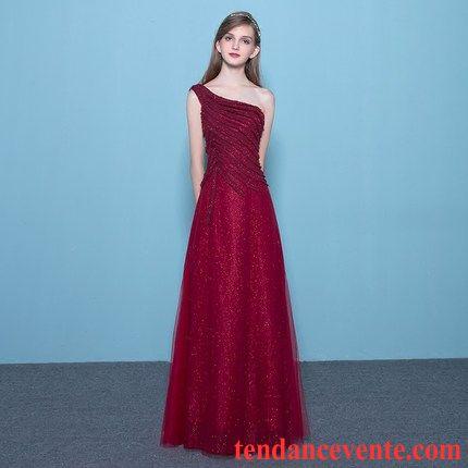 fcc314cf662 Acheter Robe Soirée Mince Longue Robe Hiver L automne Élégant Femme Mode  Saphir