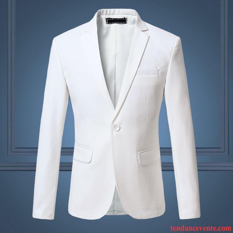Blazer d t homme pardessus l 39 automne jeunesse tendance smoking blanc taillissime une veste - Blazer blanc homme ...