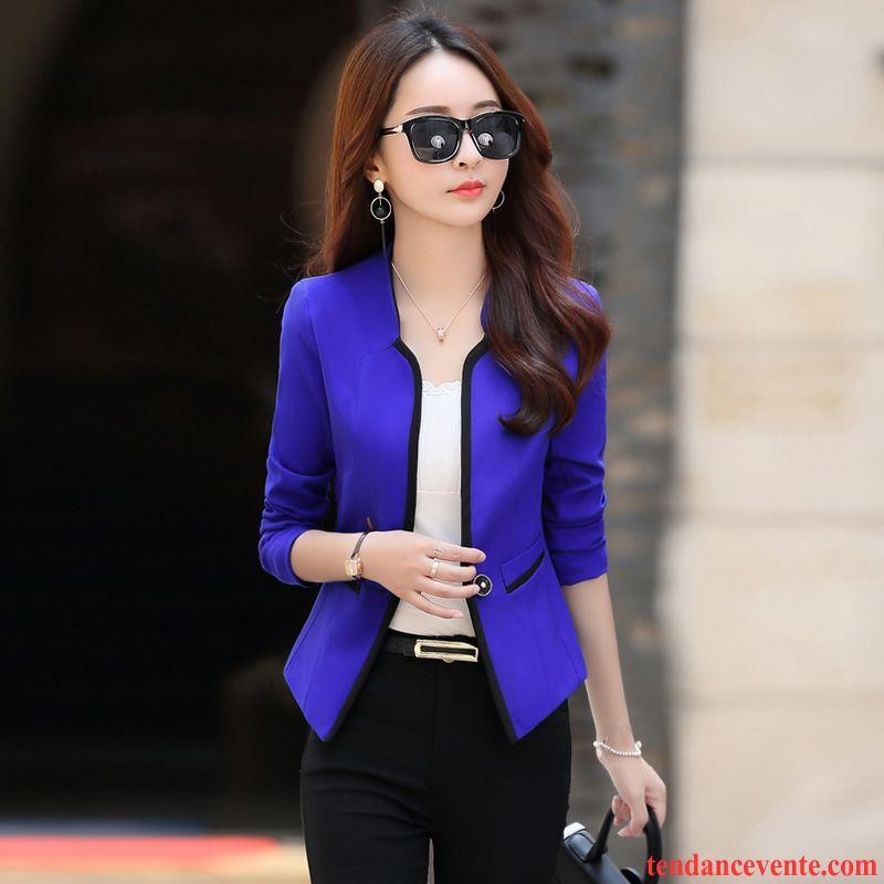 blazer d hiver femme l 39 automne tous les assortis femme courte mode slim blazer longues pardessus. Black Bedroom Furniture Sets. Home Design Ideas