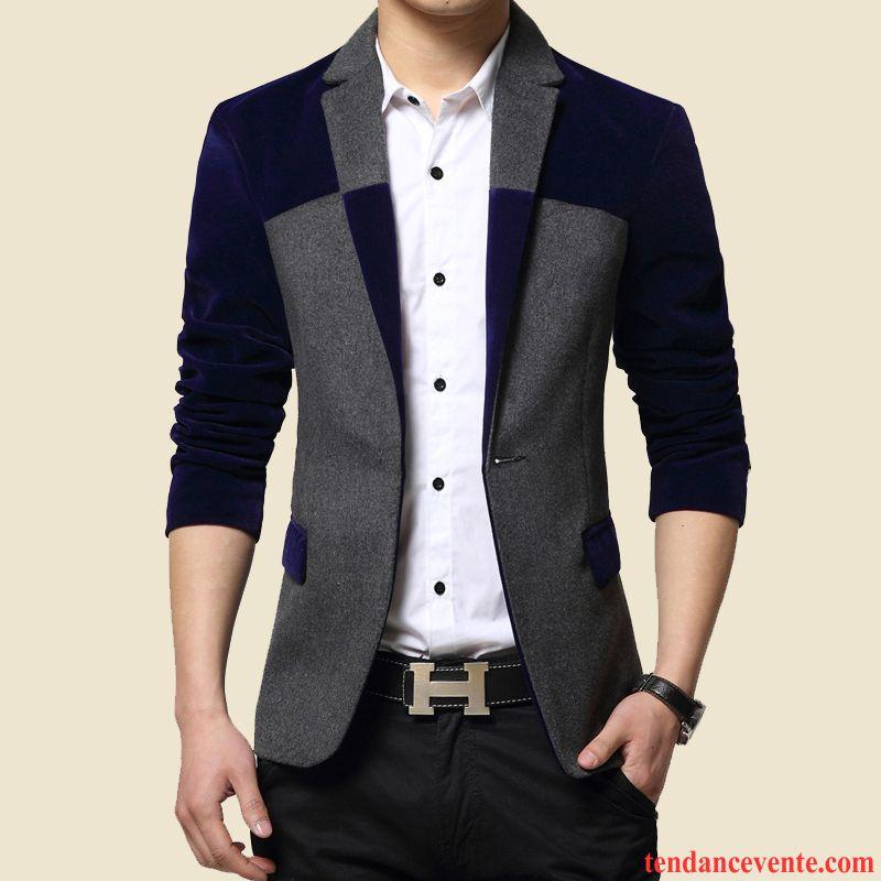 blazer pour jeune homme homme une veste jeunesse d contract e slim pardessus l 39 automne col. Black Bedroom Furniture Sets. Home Design Ideas
