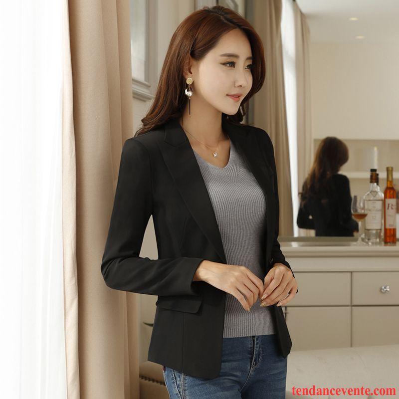 blazer blazer femme rose l 39 automne blazer longues femme slim une veste courte pardessus mince. Black Bedroom Furniture Sets. Home Design Ideas