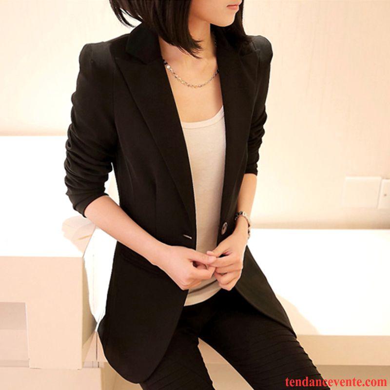 low priced 5f2d6 e4240 Blazer Femme Noir Capuche Slim Tendance Pardessus Dame Longue L automne  Professionnel Taillissime Longues Blazer Printemps