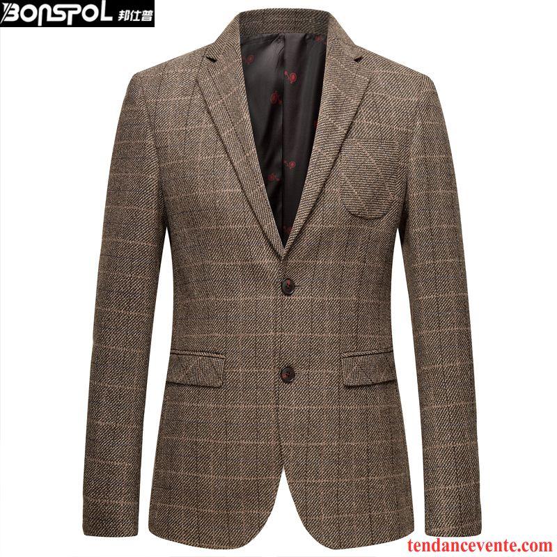 blazer homme hiver homme l 39 automne pardessus jeunesse slim de laine costume d contract e. Black Bedroom Furniture Sets. Home Design Ideas
