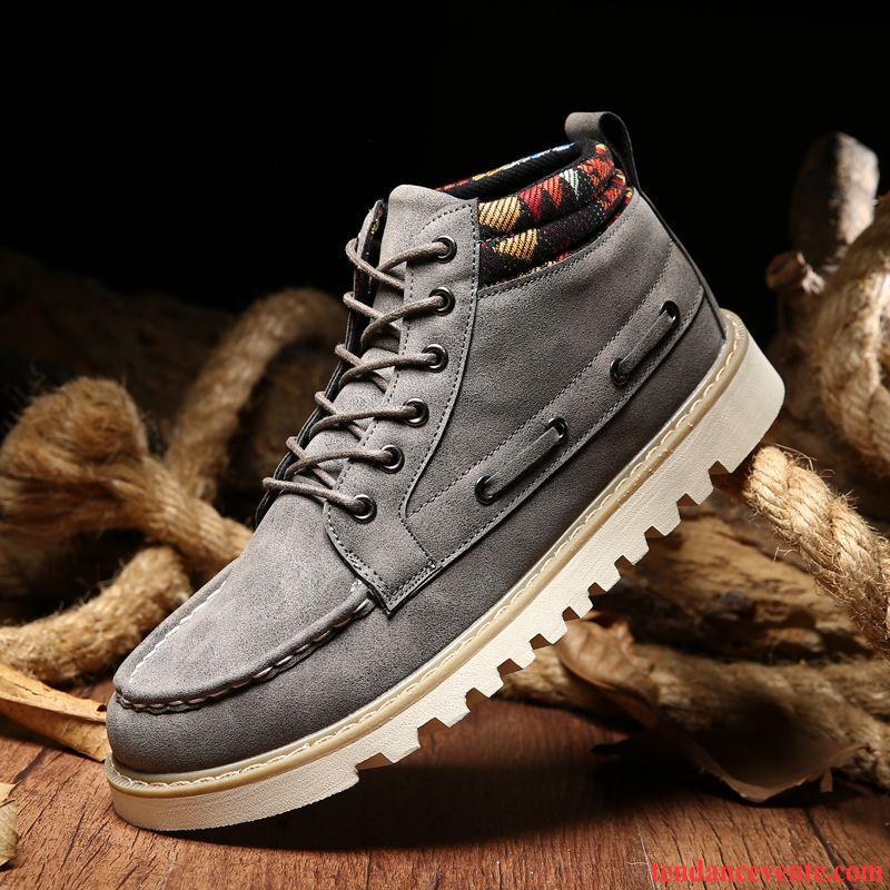 boots bottines homme pas cher semelle paisse homme l 39 automne hautes chauds hiver bureau. Black Bedroom Furniture Sets. Home Design Ideas