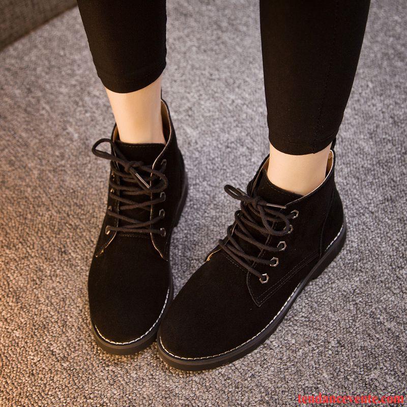 bottes pour femme femme tous les assortis courte plates bout rond l 39 automne mode printemps. Black Bedroom Furniture Sets. Home Design Ideas