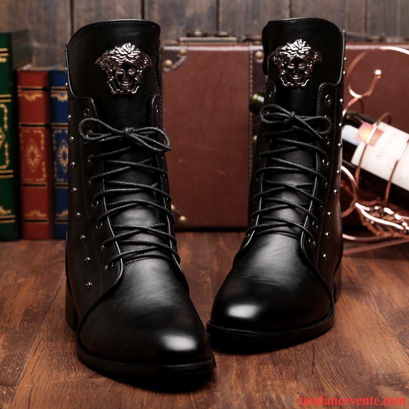 boots homme daim marron matelass homme en cuir chaussures. Black Bedroom Furniture Sets. Home Design Ideas