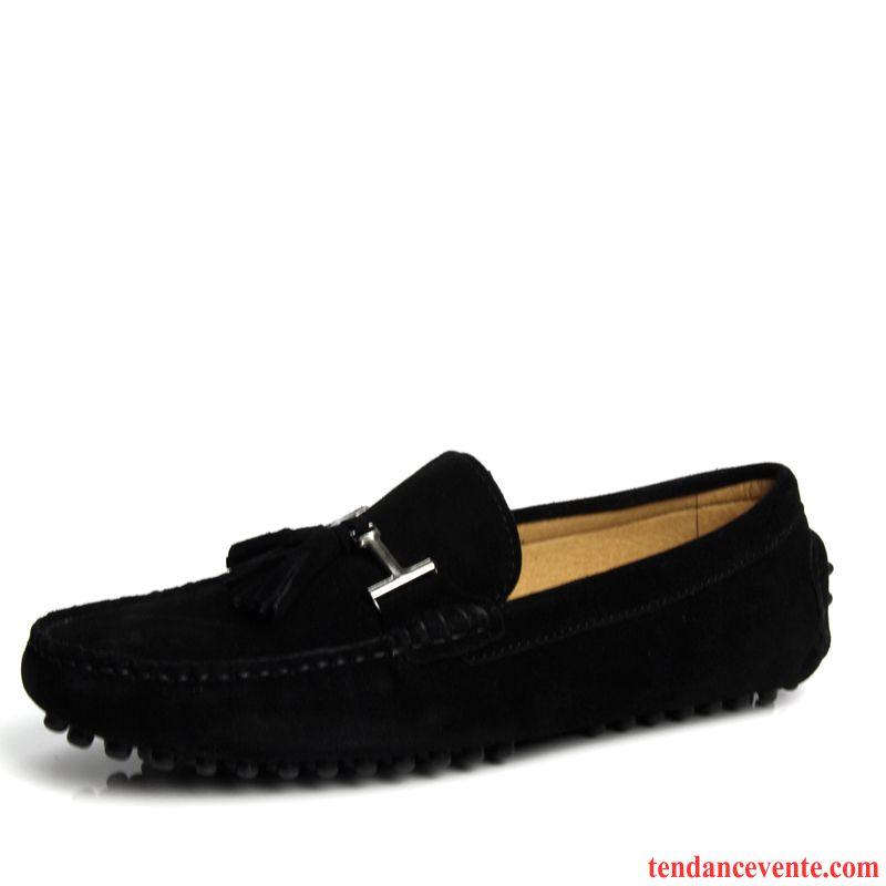 8572992ace6a8e Chaussure Homme Chic Décontractée Cuir Véritable Chaussures En Coton  Angleterre Homme Tendance Hiver L'automne Plus ...