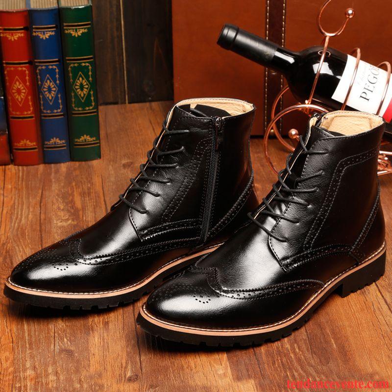 47d6ccae9c1e Chaussure Homme Classe Angleterre Homme Fleur Pointe Pointue Tendance  L automne Hautes En Cuir Printemps Mauve