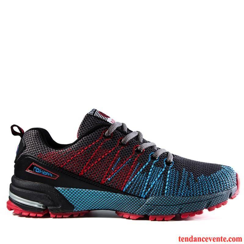 Chaussure Homme Runningswear Respirant Sport Porter L'automne Homme Net Cushioning Chaussures De Course Le Jogging Saumon